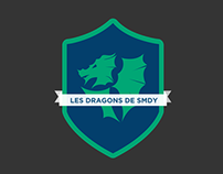 DRAGONS athletics branding