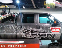 Truck graphics for SEMA 2014