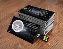 "Business card - ""Outatime"" agency"