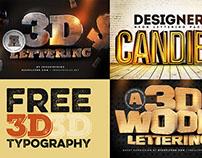 Free 3D Typography
