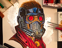 Star Lord Watercolor
