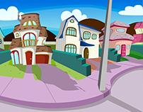 Diseño de barrio para Serie Infantil Animada