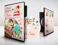 Birthday Party DVD Cover and DVD Label Template
