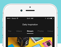 Daily Inspiration Feed – App Concept
