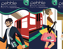 Illustrations : Pebble pocket chargers brochure
