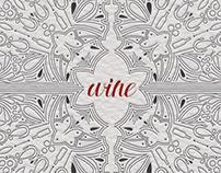 Graphic Wine Illustration