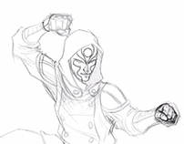Quick process of Amon from Legend of Korra
