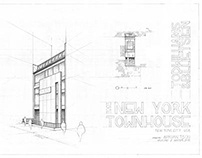 nyc townhouse drawings (freehand)