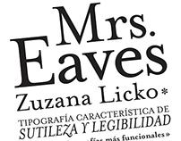 Catálogo y Afiche Tipográfico - Mrs. Eaves