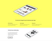 Landing App FREE Template Supreme Shortcodes WordPress