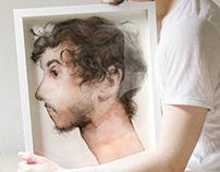 Portrait of a self portrait, 2015