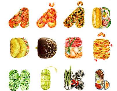 Food alphabet - Sống Để Ăn