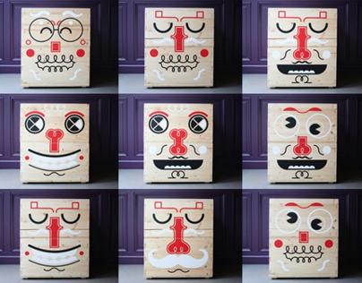 Pilou Face :: fun toy storage boxes for kids