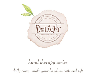 DELIGHT/  hand cream package