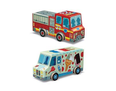 3-D Vehicle Puzzles