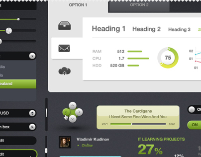 Download PSD of UI Elements Part 9