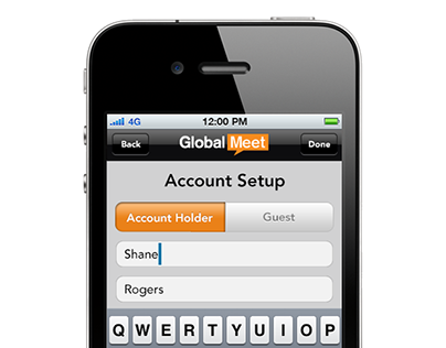 GlobalMeet App Meeting Settings