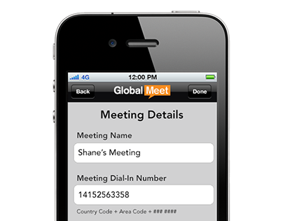 GlobalMeet App Meeting Bookmarks