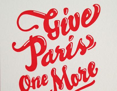 Paris! Paris! Paris!
