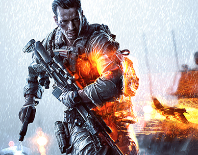 Battlefield 4 Key Art & Logo Design