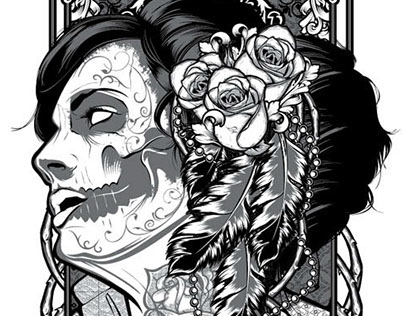 Muerte Girl Illustration
