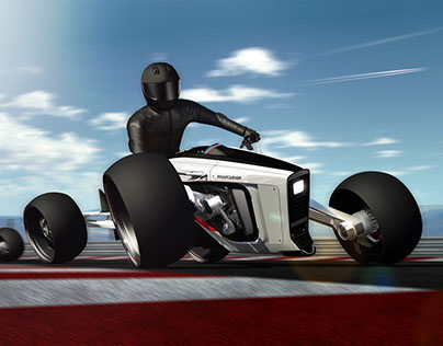 Roadcarver a four-wheeled motorcycle