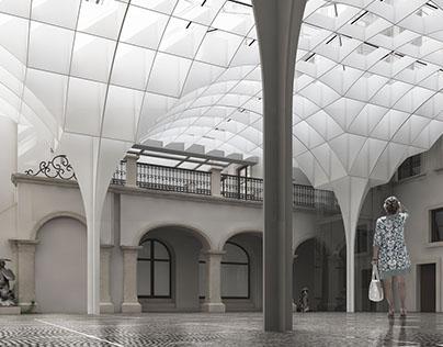 Zadaszenie dziedzińca Muzeum Warszawy / Courtyard roof