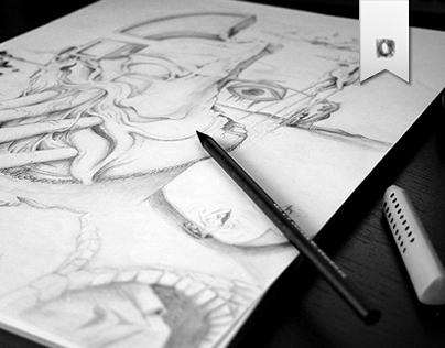 PENCIL ON PAPER • SKETCHBOOK • X-XIII